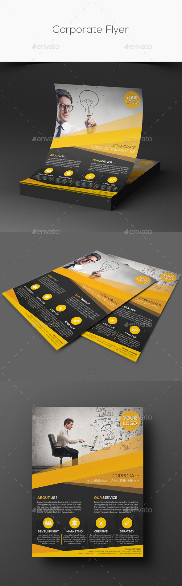 GraphicRiver Corporate Flyer 11464100