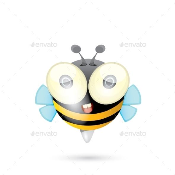 GraphicRiver Cartoon Bright Baby Bee 11464132