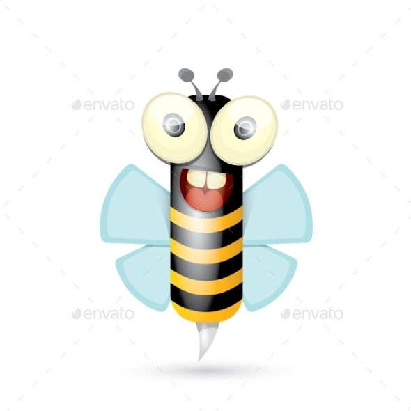 GraphicRiver Cartoon Bright Baby Bee 11464196