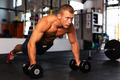 Pushups on dumbbells - PhotoDune Item for Sale
