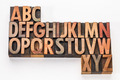 alphabet abstract in wood type - PhotoDune Item for Sale