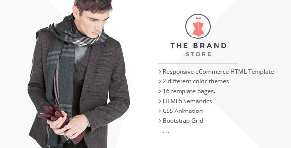 ThemeForest The Brand Shop eCommerce HTML5 Template 11464391
