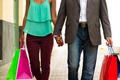 African American Couple Shopping With Bags In Panama City - PhotoDune Item for Sale