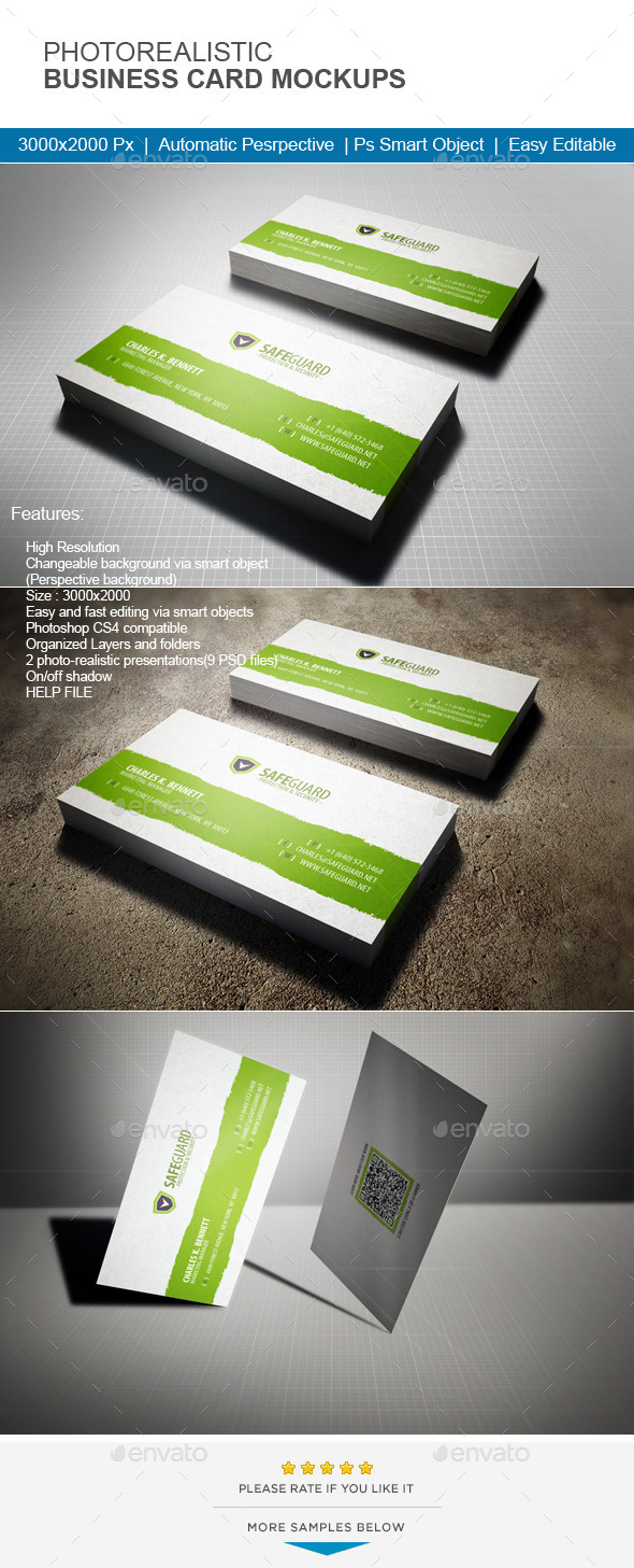 GraphicRiver Photorealistic Business Card Mock-Up 11465057