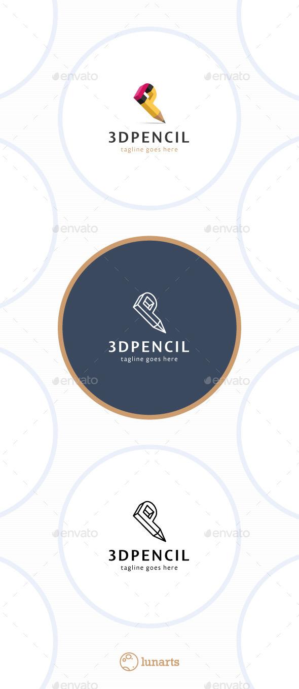 GraphicRiver 3D Pencil Logo Letter P 11465070