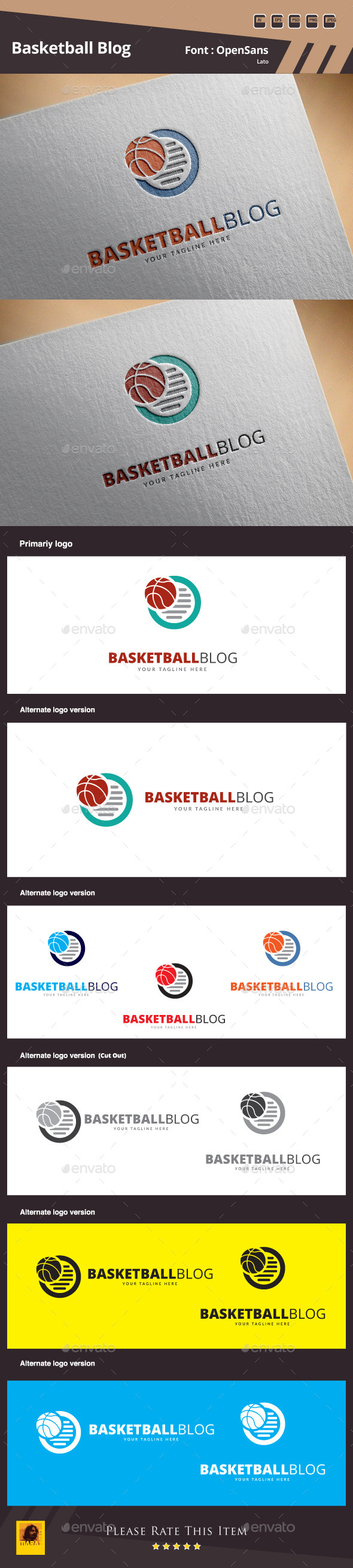 GraphicRiver Basketball Blog Logo Template 11465084