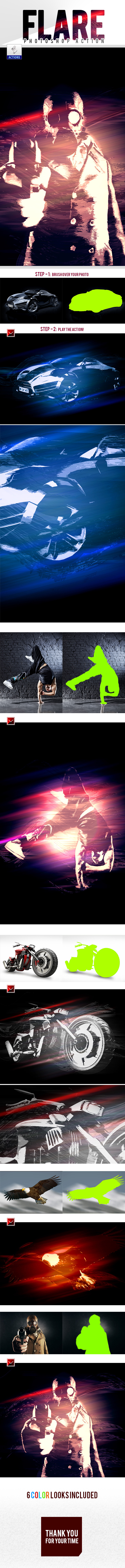 GraphicRiver Flare Photoshop Action 11465087
