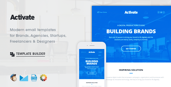 ThemeForest Activate Modern Emails & Online Template Builder 11379641