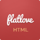 FlatLove - Flat One Page Wedding HTML5 Template