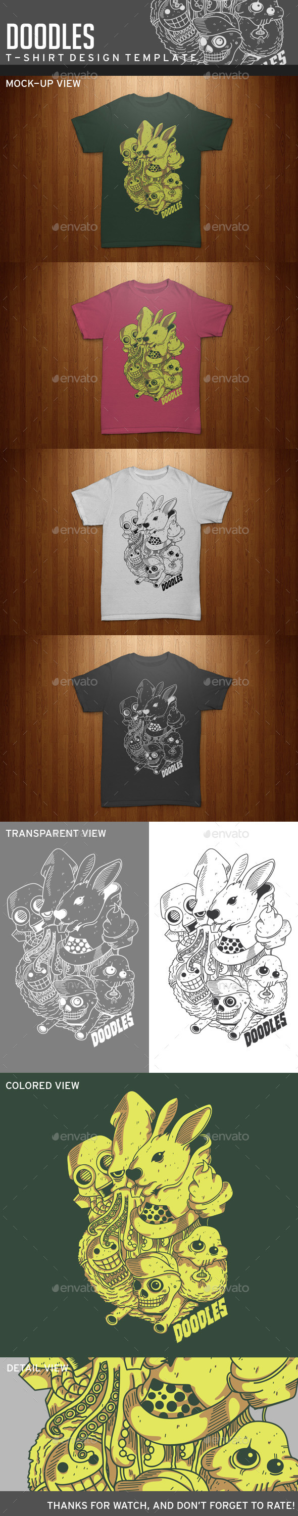 GraphicRiver Doodles T-Shirt Template 11453739