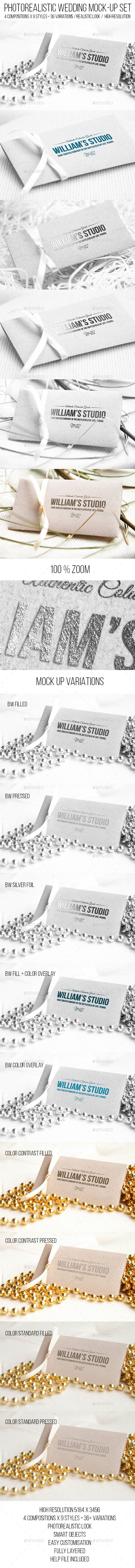 GraphicRiver Wedding Logo Mock-up Set 11465827