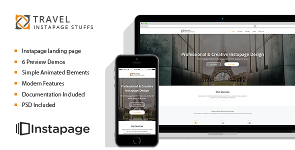 ThemeForest Travel Tour Instapage Landing Page 11409540