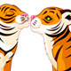 Two Tigers in Love - GraphicRiver Item for Sale