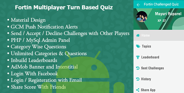 CodeCanyon Fortin Quiz Turned Based Accept Decline Challenge 11466281
