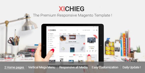 ThemeForest Xichieg Responsive Magento Digital Theme 11466548