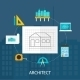 Architect Profession Icons Set  - GraphicRiver Item for Sale