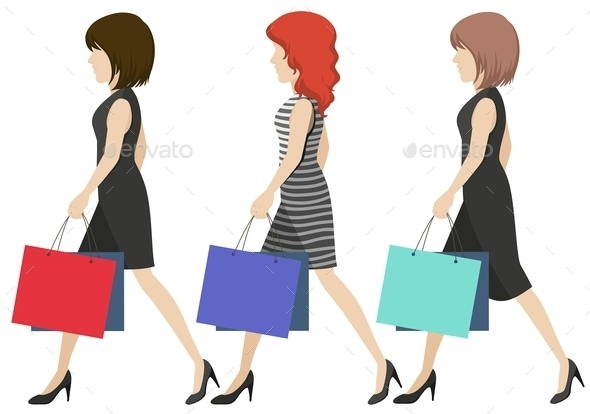 GraphicRiver Women Shoppers 11466788