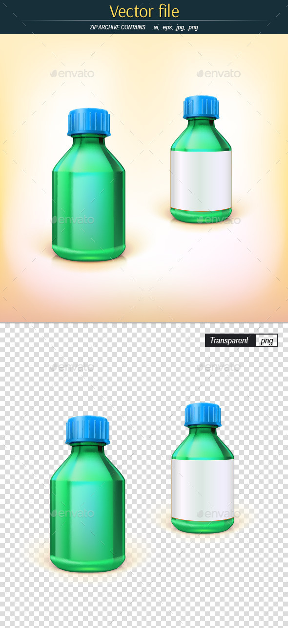 GraphicRiver Medical Bottle Template 11466842