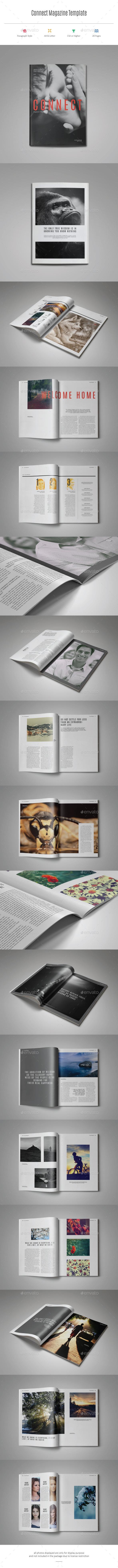 GraphicRiver Connect Magazine Template 11466844