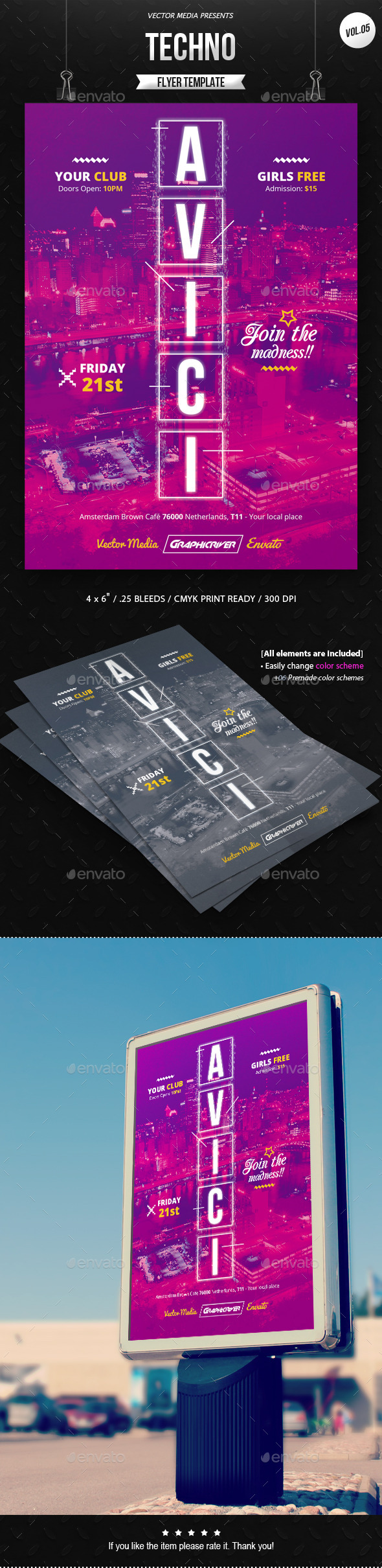GraphicRiver Techno Flyer [Vol.5] 11466941