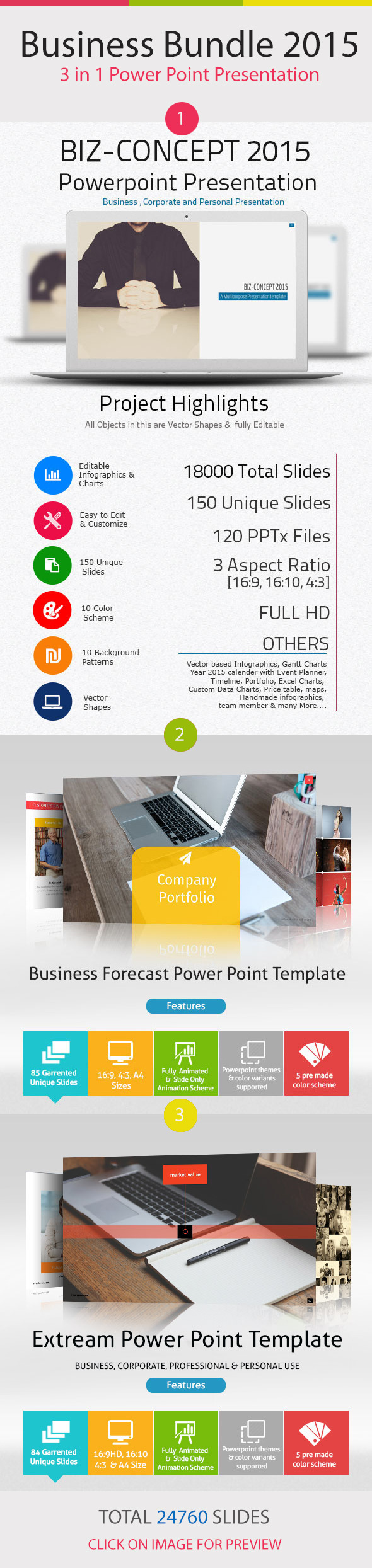 GraphicRiver Business Bundle 3 in 1 Power Point Presentation 11467015