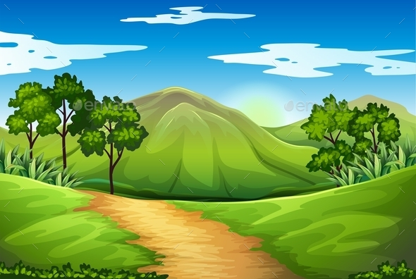 GraphicRiver A Green Landscape 11467026