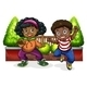 Young Black People Dancing - GraphicRiver Item for Sale