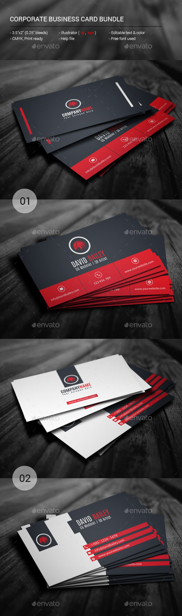 GraphicRiver Corporate Business Card Bundle 11467049