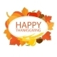 Happy Thanksgiving Sign On Top Of Maple Leaves - GraphicRiver Item for Sale
