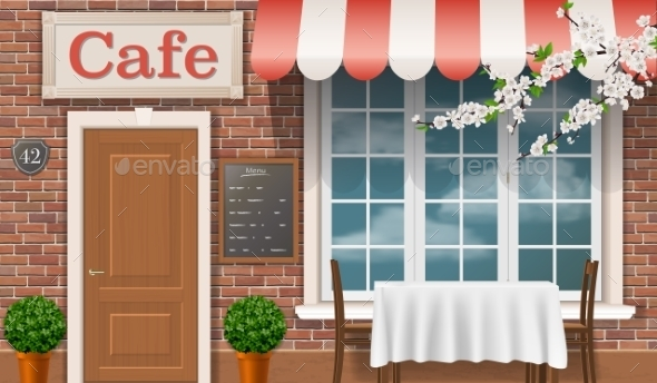 GraphicRiver The Facade Of The Traditional Cafe 11467204