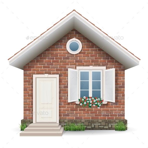 Stock Vector Graphicriver Small Brick House 11467212