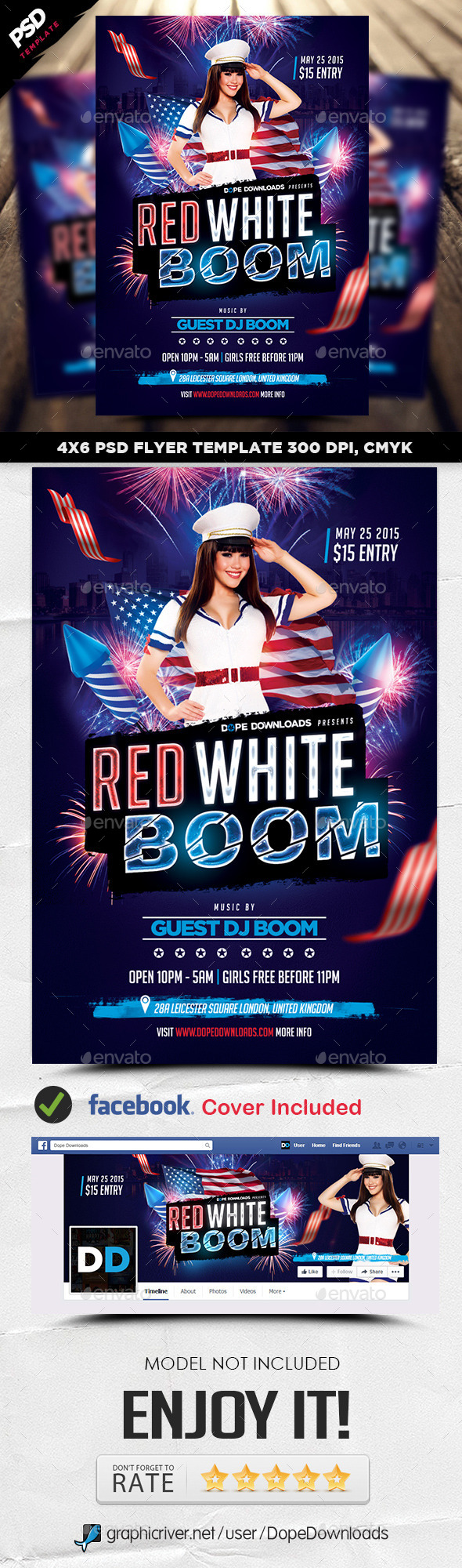 GraphicRiver Red White Boom Flyer Template 11405451
