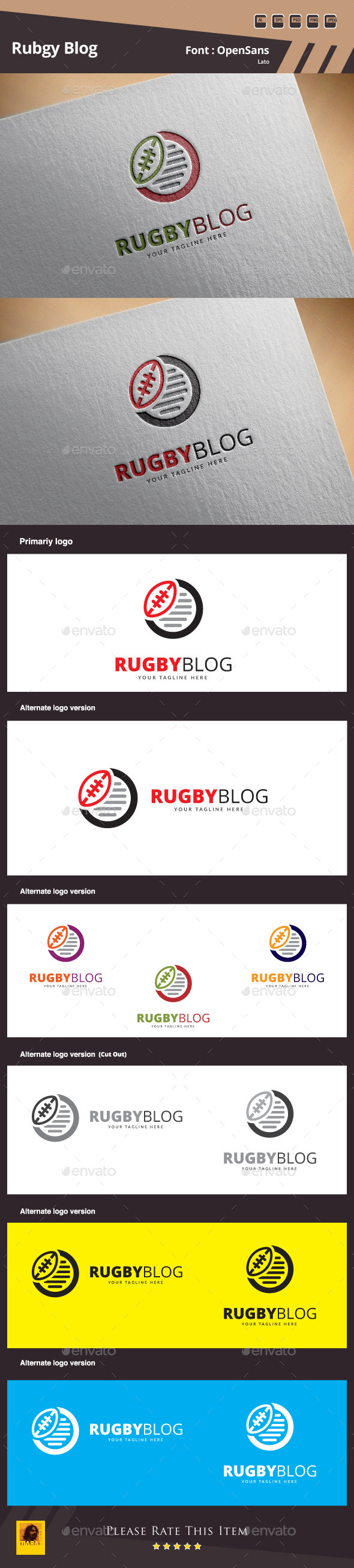 GraphicRiver Rugby Blog Logo Template 11467328