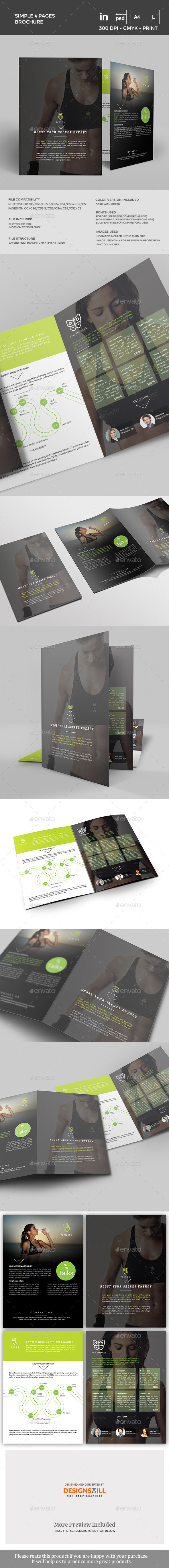 GraphicRiver 4 Pages Bifold Brochure 11467455