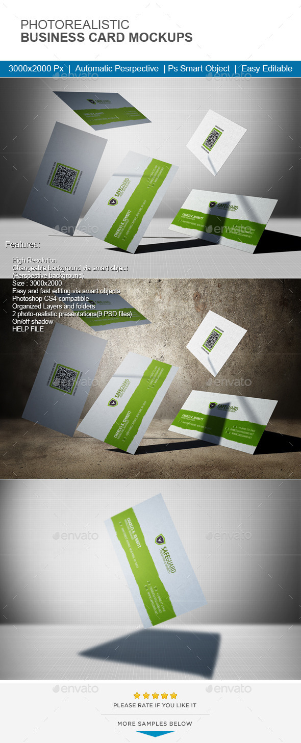 GraphicRiver Photorealistic Business Card Mock-Up 11467811