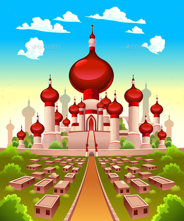 GraphicRiver Landscape with Arabian castle 11467821