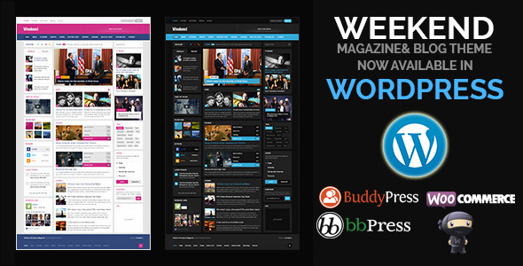 ThemeForest Weekend Magazine Responsive WordPress Theme 11401533