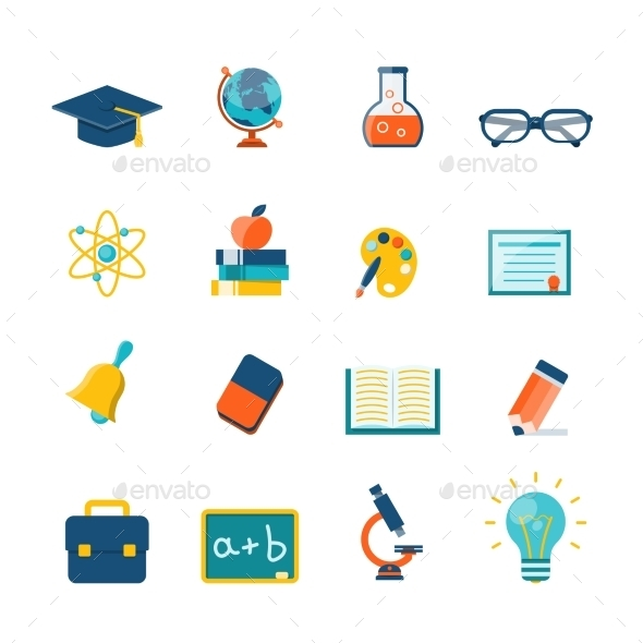 GraphicRiver Education Flat Icons 11468204
