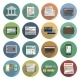 Bank Icons Flat Set - GraphicRiver Item for Sale
