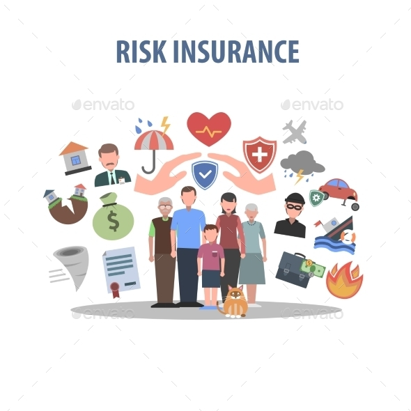 GraphicRiver Insurance Concept Flat 11468212