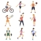 Sport People Flat Icons Set - GraphicRiver Item for Sale