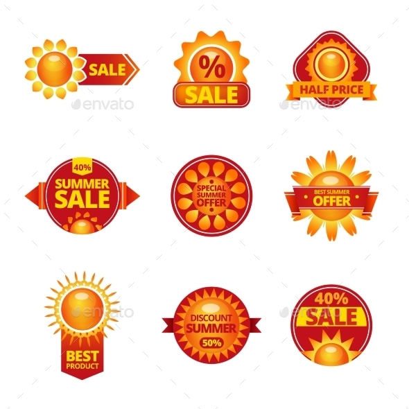 GraphicRiver Summer Sale Labels Set 11468232