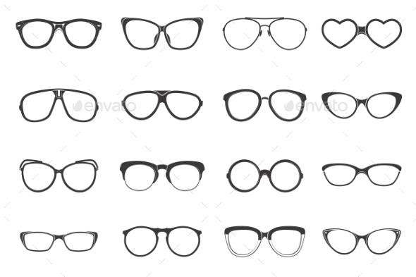 GraphicRiver Eyeglasses Set Flat 11468261