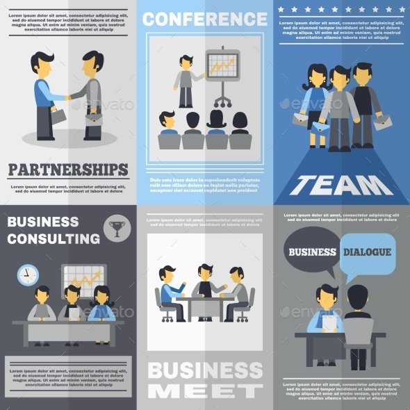 GraphicRiver Meeting Poster Set 11468365