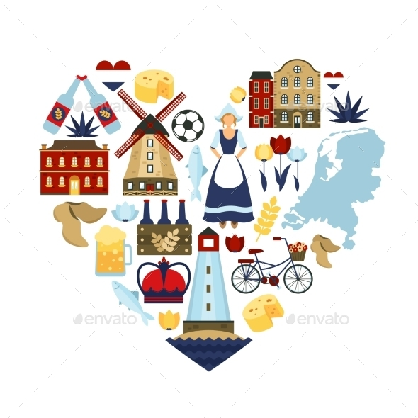 GraphicRiver Netherlands Heart Concept 11468392