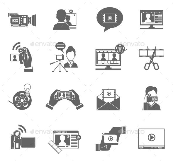 GraphicRiver Video Blog Icons Set 11468458