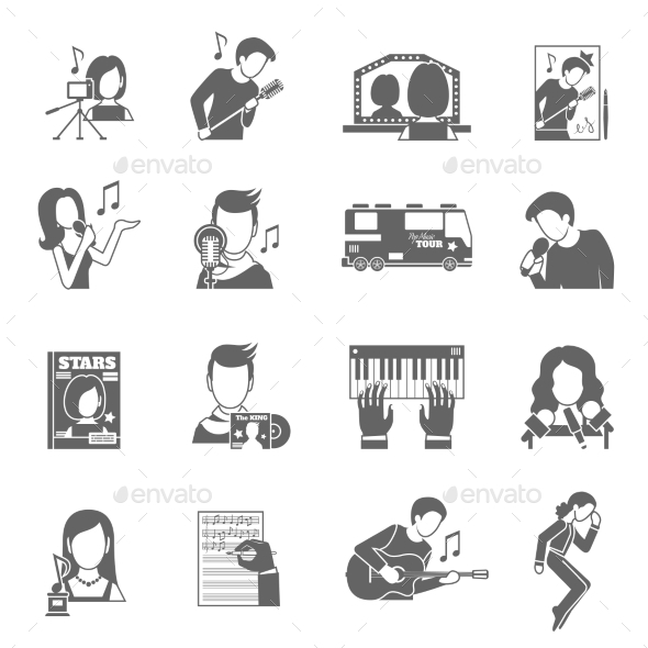 GraphicRiver Pop Singer Icons Set 11468492