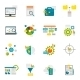 Data Analytics Flat Icons - GraphicRiver Item for Sale