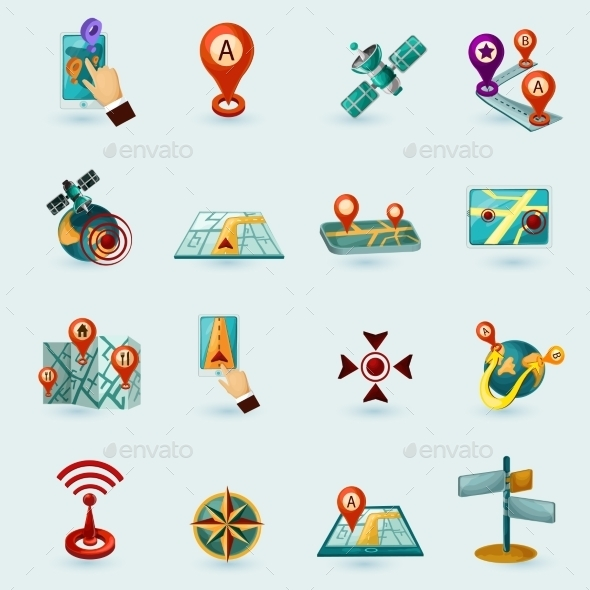 GraphicRiver Navigation Icons Set 11468503