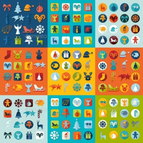 GraphicRiver Set Of Christmas Icons 11468566